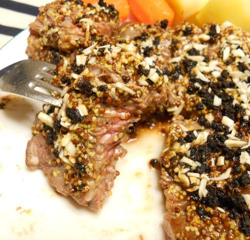 仙台味噌とマスタードのステーキ10