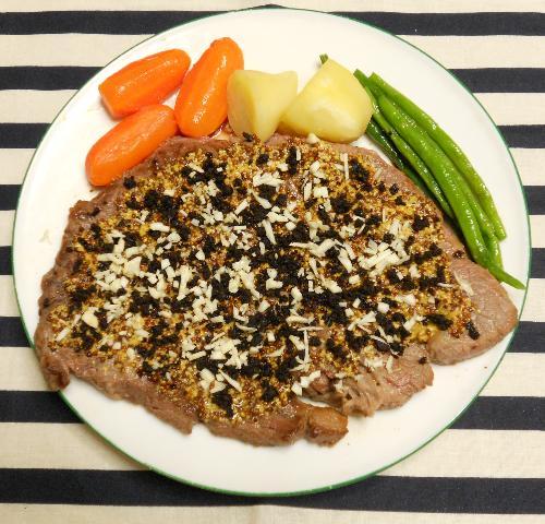 仙台味噌とマスタードのステーキ8