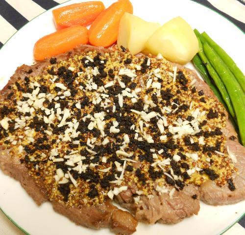 仙台味噌とマスタードのステーキ9
