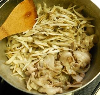 バラ肉のごぼう雑炊2