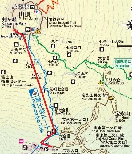 富士宮ルート地図