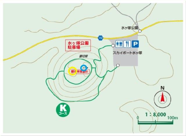 腰切塚 地図 2014.12.9
