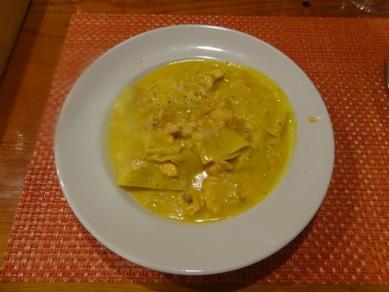 サーモンとカボチャのローズマリー風味のパッパルデッレ