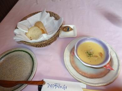 スープとパン(パンはAコースのみ)
