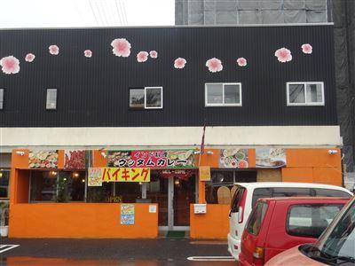 ウッタムカレーのお店の外観