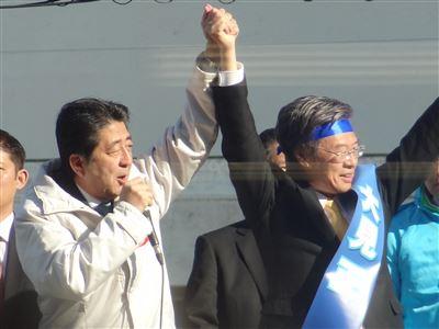 安倍総理がイトーヨーカ堂で演説7