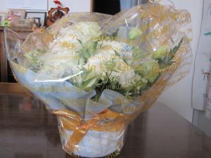 ゆま母さんからのお花
