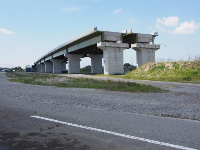 幸手インターの東北道方面、昨年度に一部架設された部分。