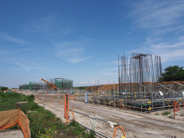 少し移動して上越新幹線と菖蒲PAの間から菖蒲PA方面。