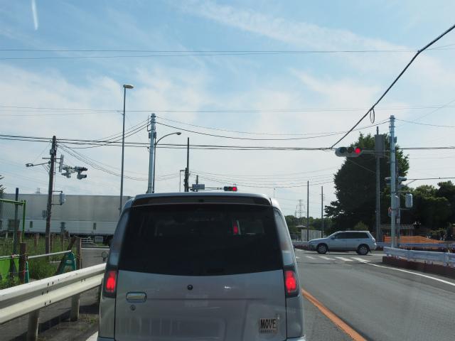 桶川高校入口交差点。