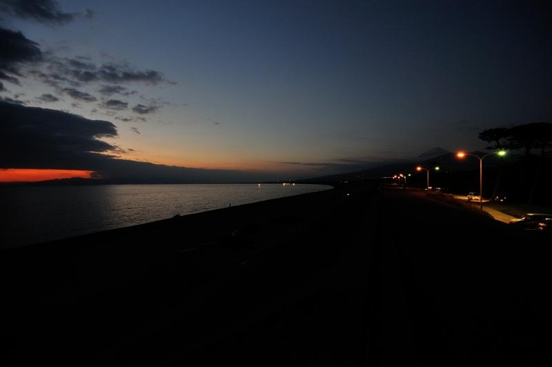 夕日と富士2
