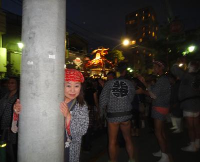 お祭り~ 電信柱