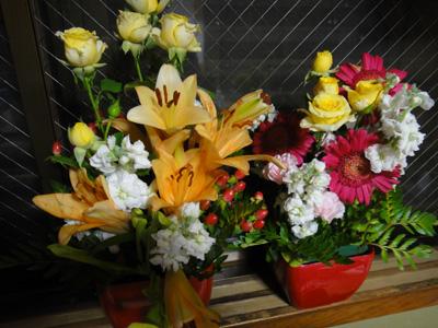 父が生けた花