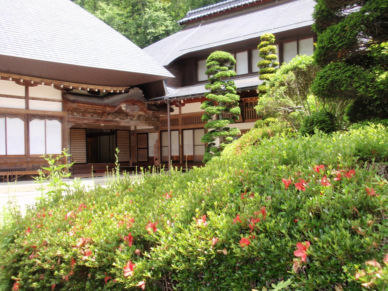 信州安楽寺・本堂と庫裏