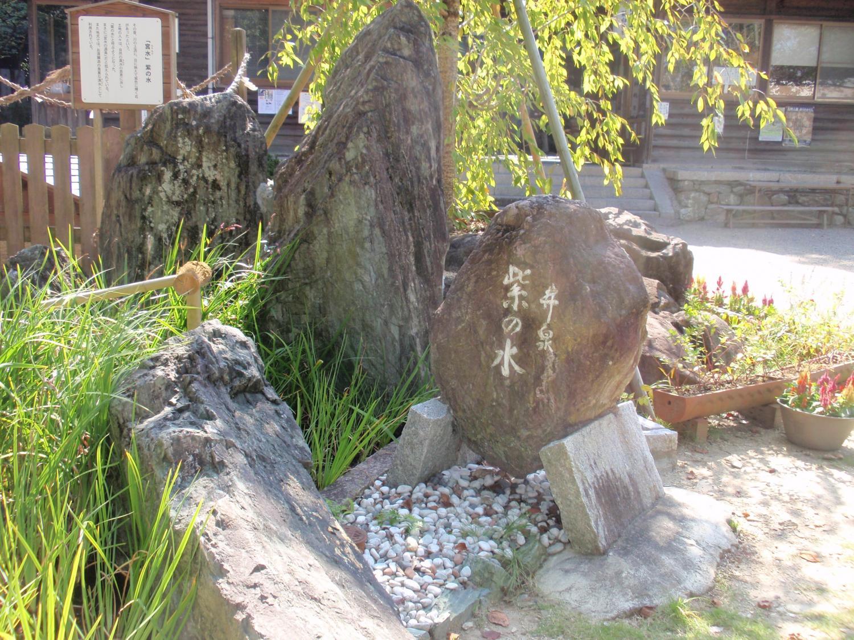 藤白神社・紫の水