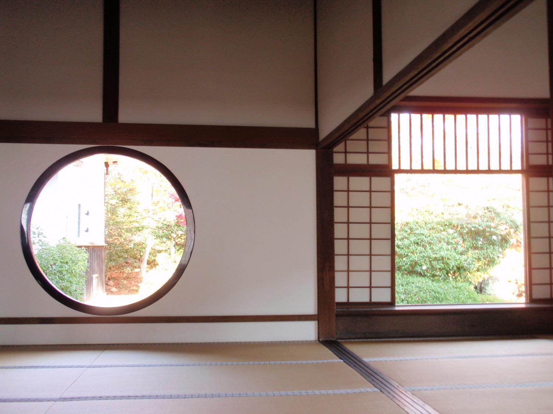 源光庵・悟りの窓と迷いの窓