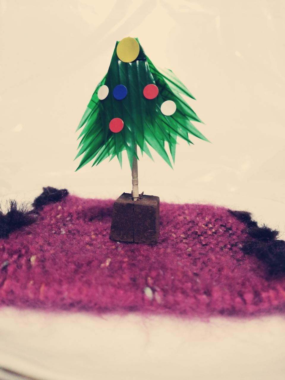 バランでクリスマスツリー