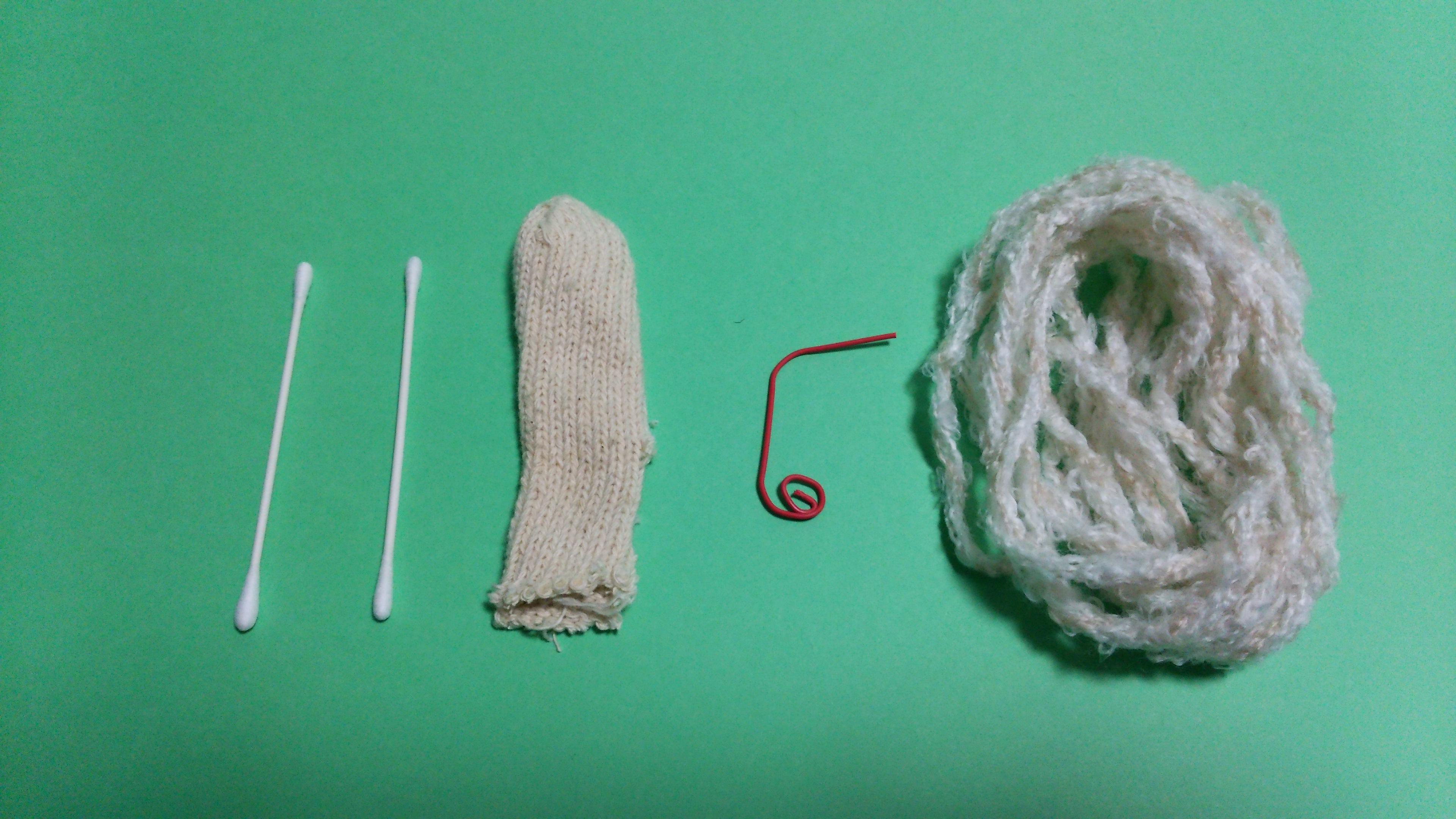 毛糸でひつじ 材料