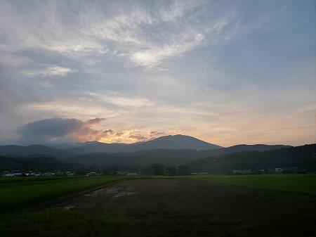 夕焼けの岩手山02(2012.8.4)
