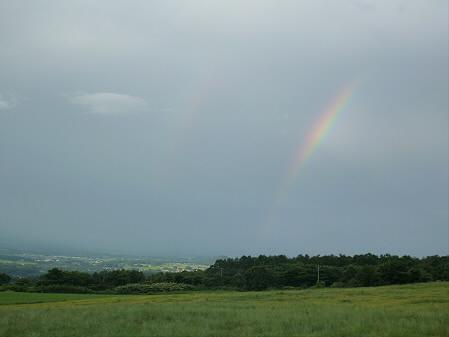 上坊牧野の虹と夕焼け02(2012.8.10)