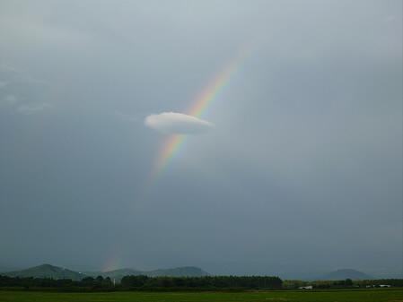 上坊牧野の虹と夕焼け04(2012.8.10)
