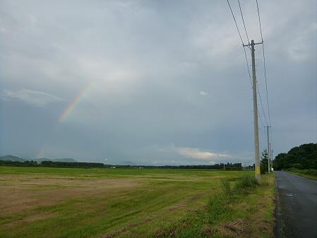 上坊牧野の虹と夕焼け07(2012.8.10)