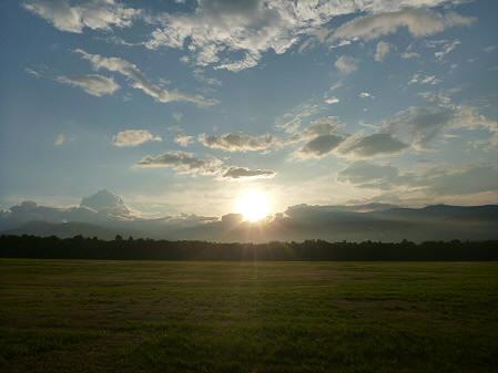上坊牧野の虹と夕焼け10(2012.8.10)