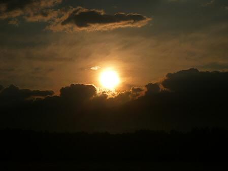 上坊牧野の虹と夕焼け11(2012.8.10)