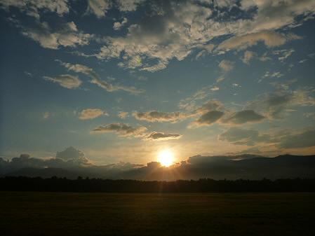 上坊牧野の虹と夕焼け12(2012.8.10)