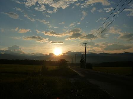 上坊牧野の虹と夕焼け13(2012.8.10)