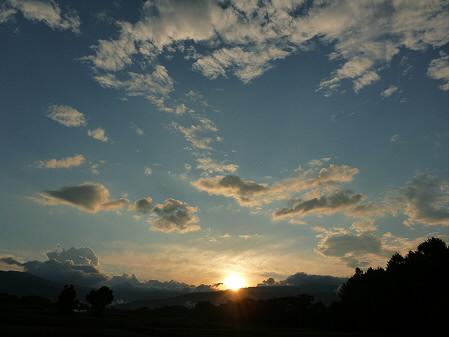 上坊牧野の虹と夕焼け15(2012.8.10)