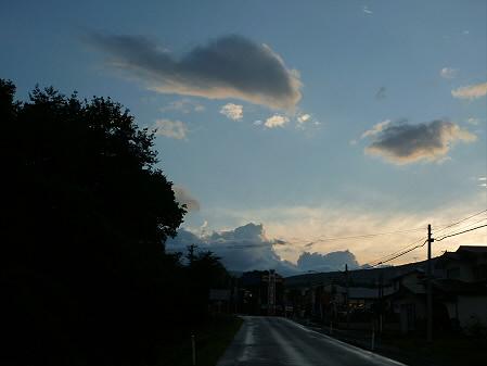上坊牧野の虹と夕焼け17(2012.8.10)