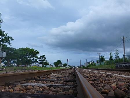 銀色の空と大更駅07(2012.8.13)