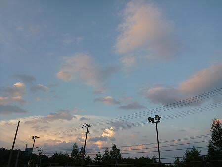 キレイな夕方の雲たち01(2012.8.22)