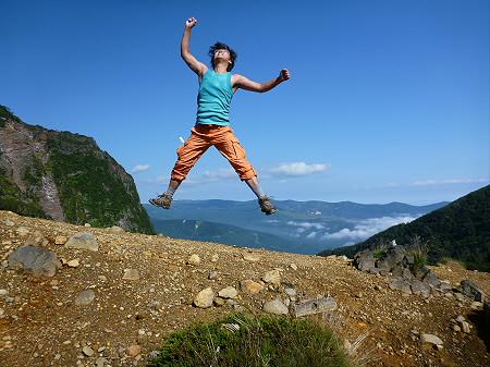 岩手山七滝コース54(2012.9.8)ジャンプ!