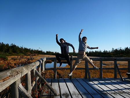 黒谷地湿原01(2012.10.8)ジャンプ!