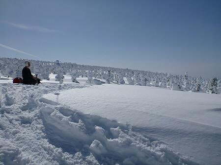 八幡平樹氷vol.2 20(2012.3.1) ジャンプ