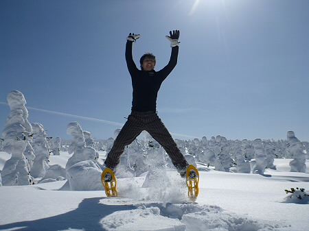 八幡平樹氷vol.2 21(2012.3.1) ジャンプ