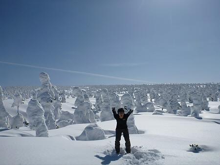 八幡平樹氷vol.2 23(2012.3.1) ジャンプ