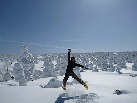 八幡平樹氷vol.2 26(2012.3.1) ジャンプ
