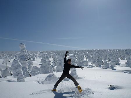 八幡平樹氷vol.2 27(2012.3.1) ジャンプ