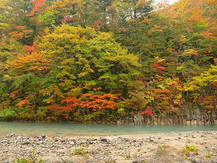 松川渓谷玄武岩05(2012.10.23)