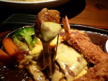 チーズハンバーグ&海老フライ06(2012.5.7)らんぷ