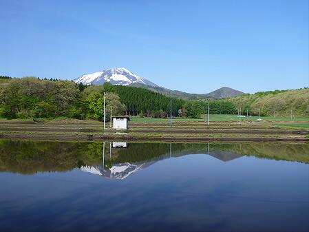 朝、田んぼがある風景01(2012.5.14)