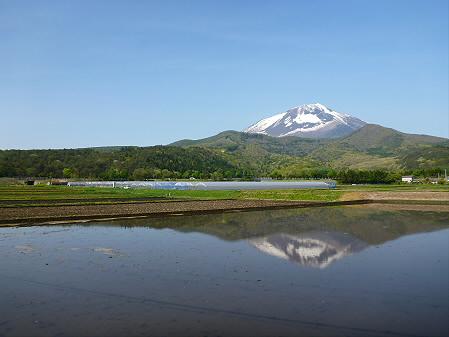 朝、田んぼがある風景02(2012.5.14)