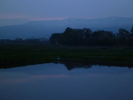 夕方、田んぼのある風景01(2012.5.17)