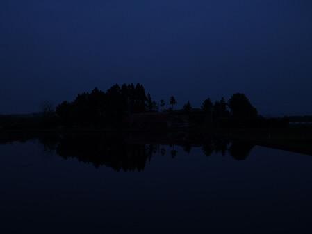 夕方、田んぼのある風景03(2012.5.17)