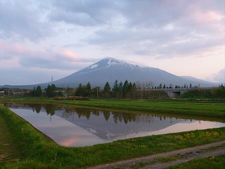 夕方、田んぼのある風景01(2012.5.18)