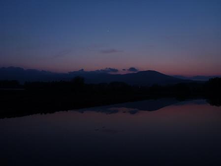 夕方、田んぼのある風景06(2012.5.18)