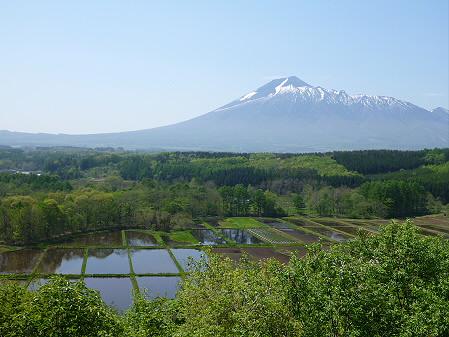 岩手山と田んぼ03(2012.5.20)